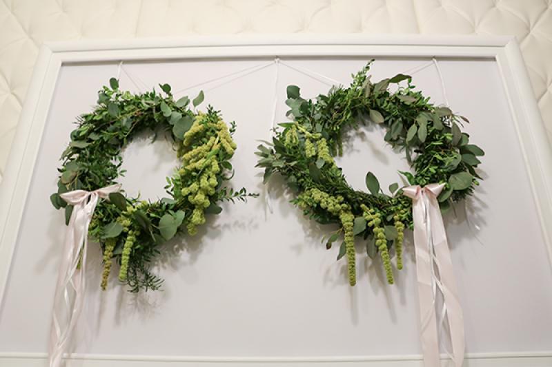 wianki wesele szkarłat dekoracje ślubne warszawa