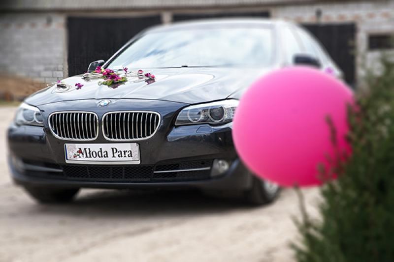 dekoracja samochodu ślub    warszawa