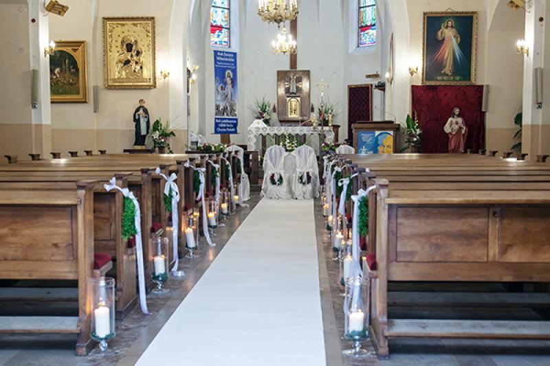 kościół dekoracja ślubna warszawa
