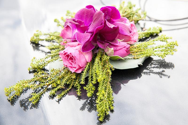 kwiaty na samochód ślub warszawa