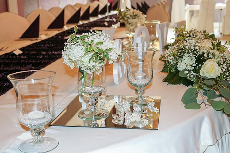 dekoracja gipsówka wesele