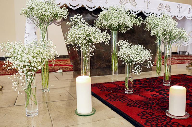 dekoracja ślub warszawa gipsówka świece