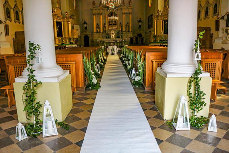 dekoracja kościoła mieczyki warszawa