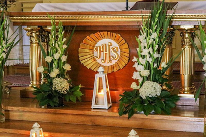 dekoracja ślubna warszawa biało zielona