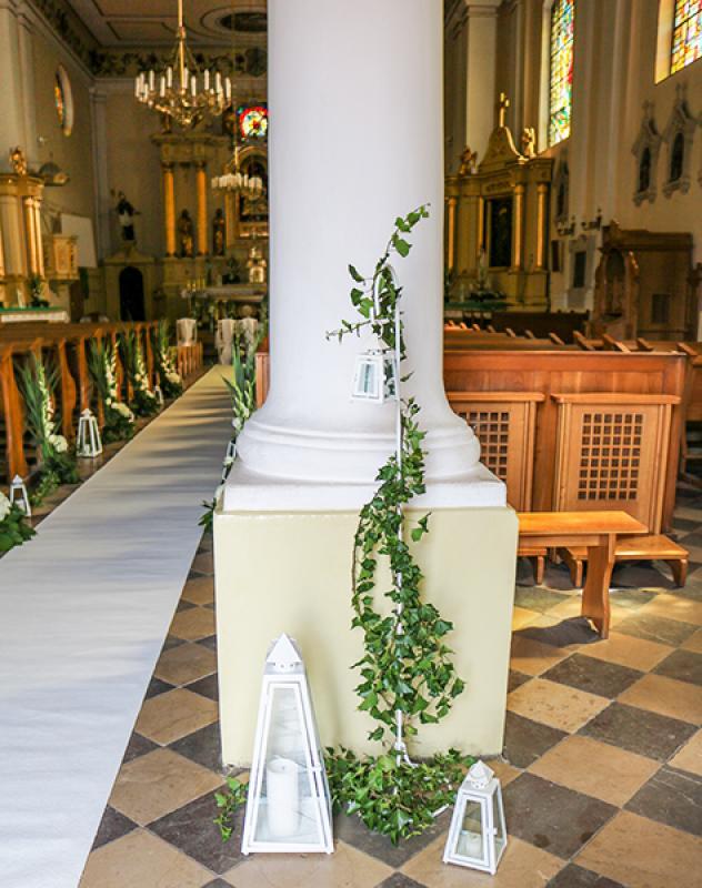 latarnie na ślub Biało-zielony ślub warszawa