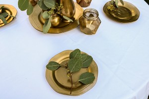 złota podkładka talerze wesele warszawa