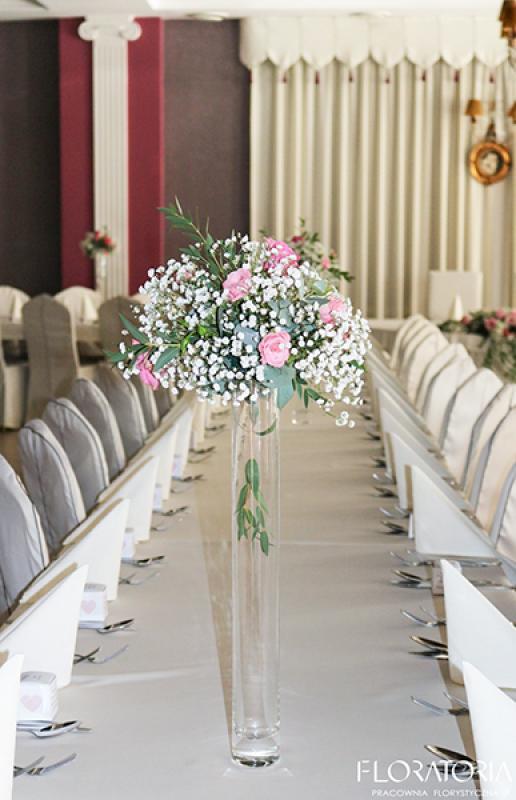 dekoracja sali na wesele warszawa róże