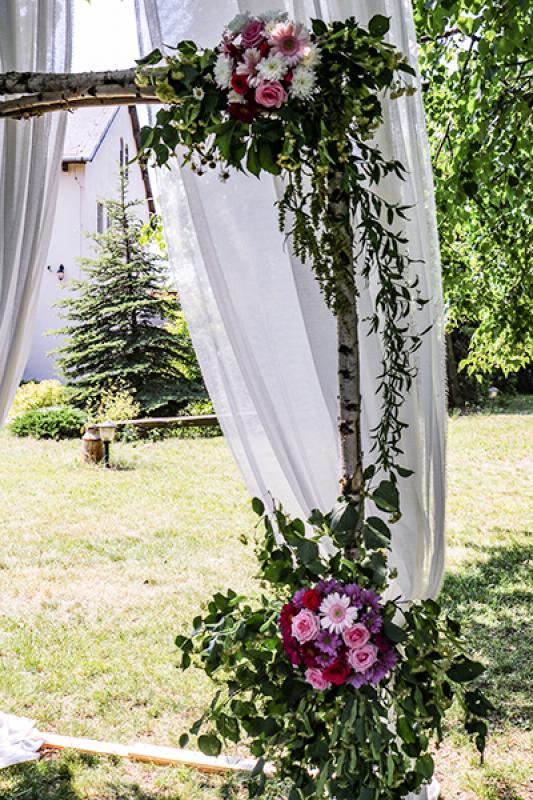 pergola na ślub plenerowy warszawa