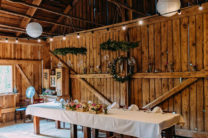 rustykalna dekoracja na wesele warszawa