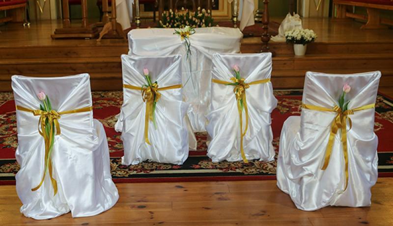 dekoracja krzeseł ślub warszawa