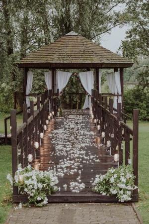 dekoracja altany ślub plener warszawa