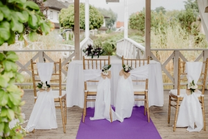 dekoracja na ślub w plenerze
