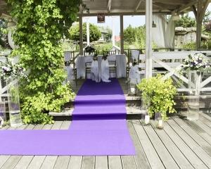 dekoracja plenerowy ślub