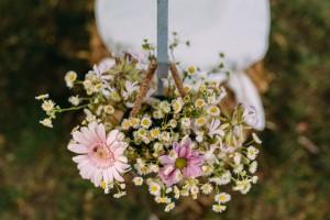 kwiaty rustykalne ślub plener warszawa