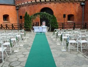 plenerowy ślub forteca