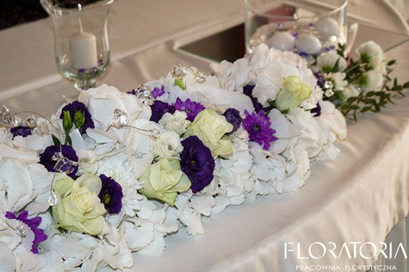 dekoracja stołu warszawa hortensja