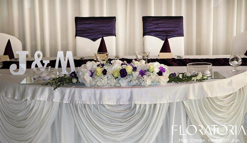 dekoracja stołu młodych warszawa hortensja