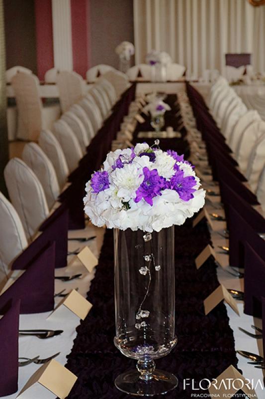 dekoracja wesele warszawa  stół