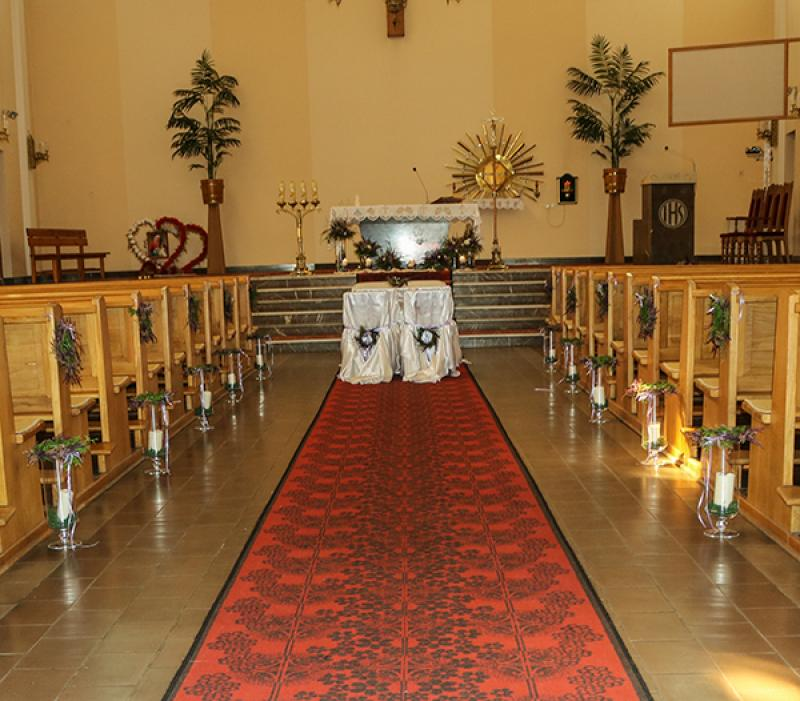 dekoracja kościoła wrzos