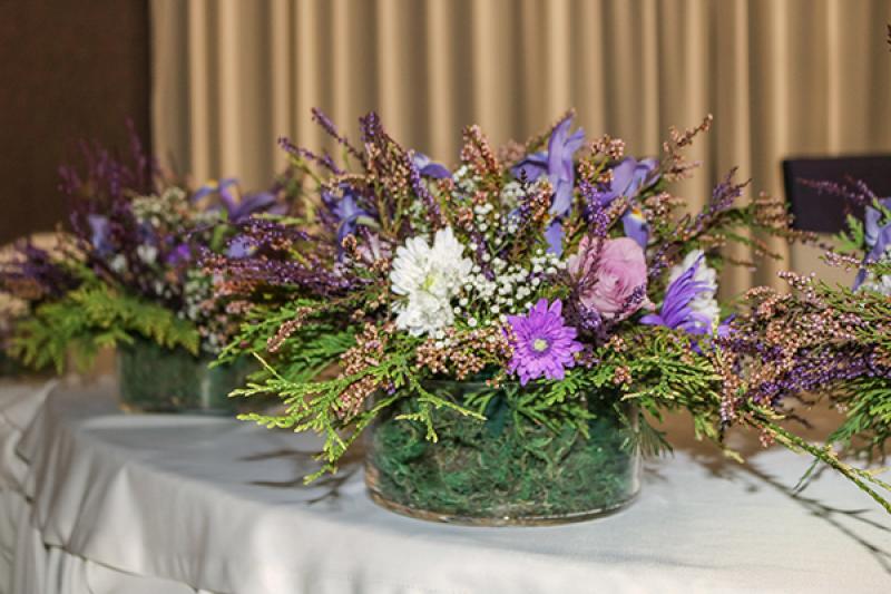 dekoracja stołu wrzos