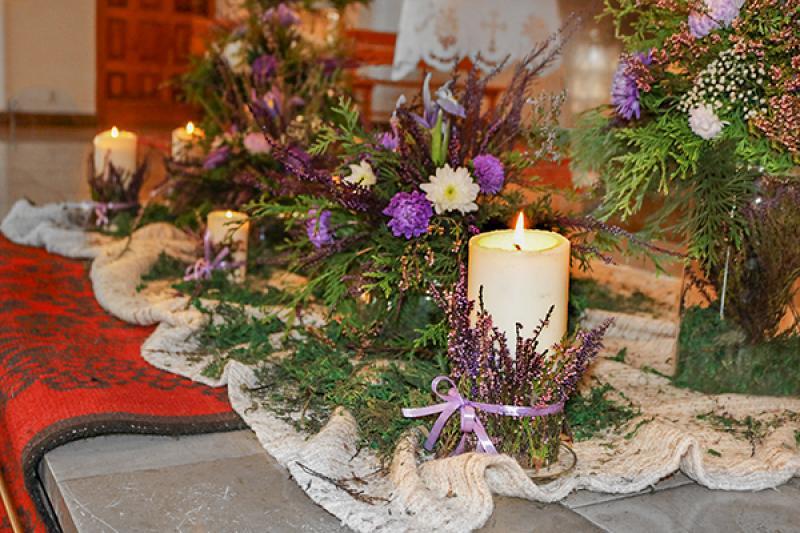 dekoracje ślubne warszawa wrzos świece
