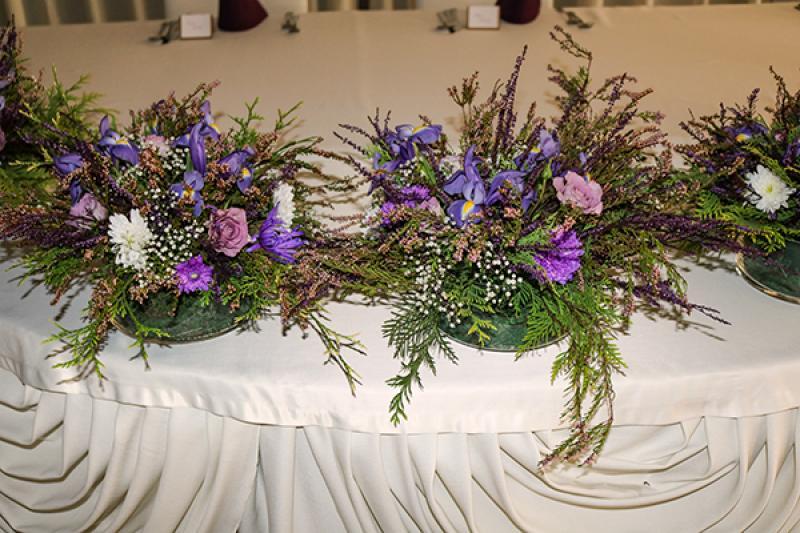 stół prezydialny wrzosy wesele