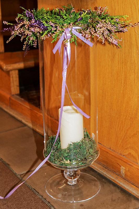 świecznik wianek wrzos