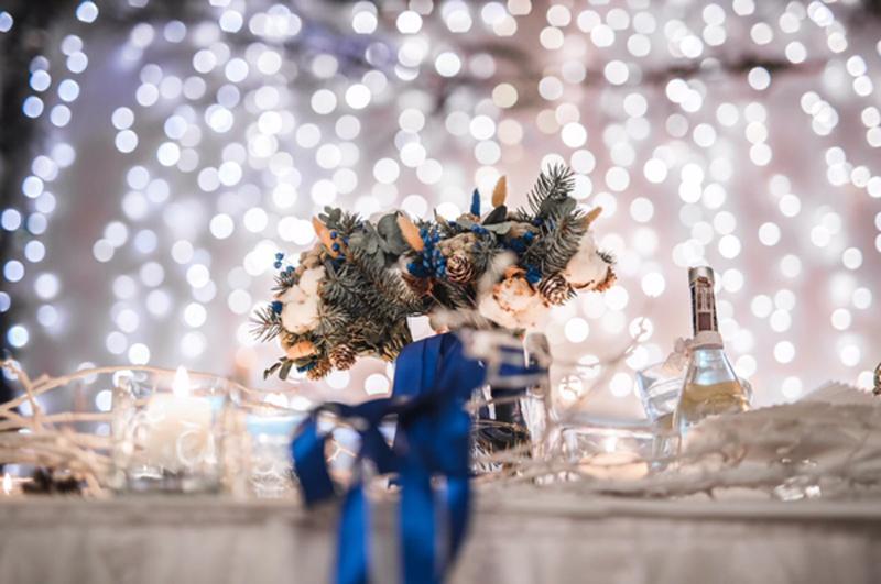 bukiet na zimowy ślub