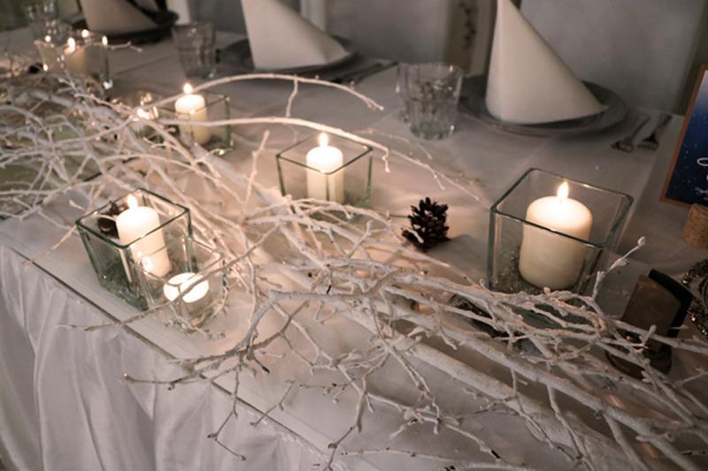 stół młodych zimowy ślub