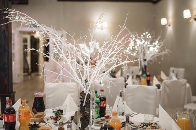 zimowa dekoracja wesela