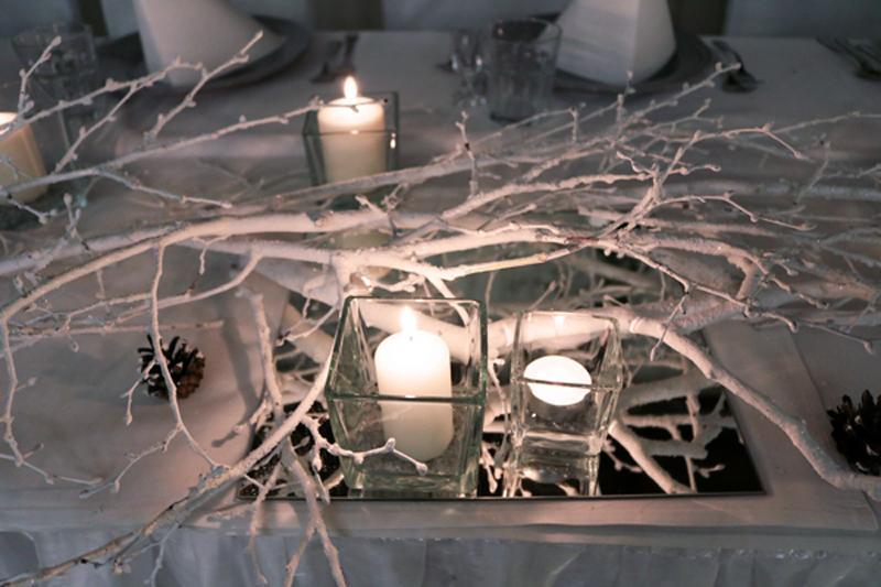 zimowy ślub dekoracja