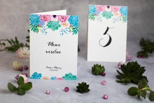 menu-numer-stolu-sukulenty-kwiaty