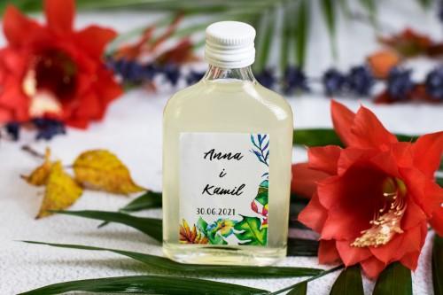 podziekowanie-butelka-tropikalne-liscie