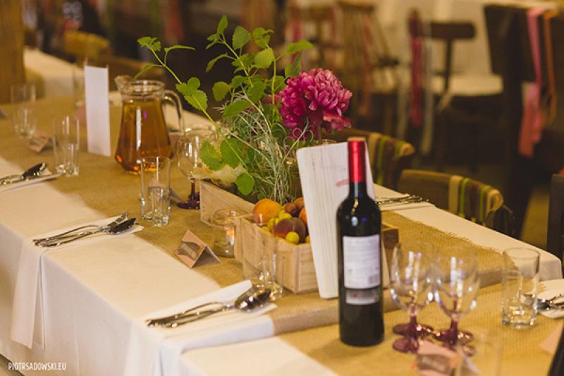 dekoracja stołu wesele warszawa rustykalne