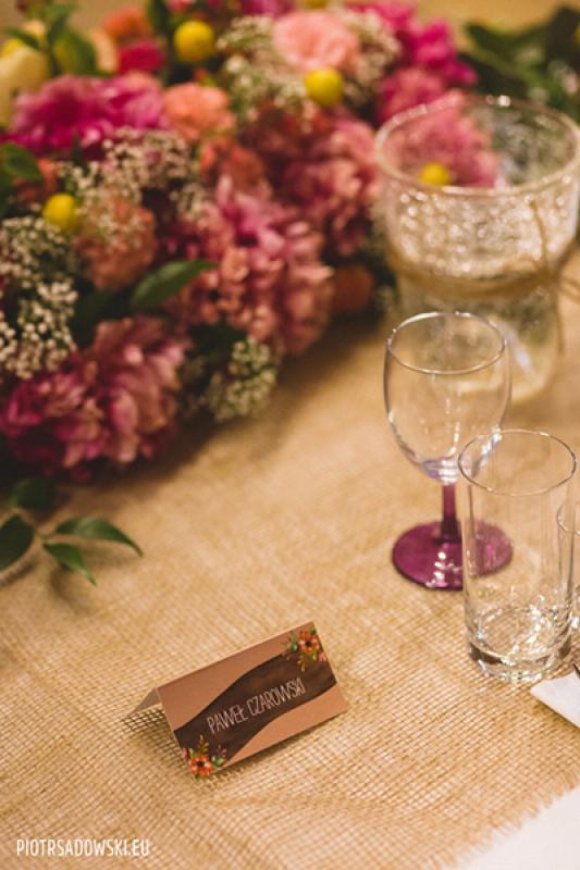 stół wesele rustykalnie warszawa