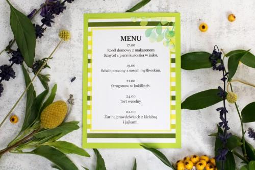 menu-wesele-paski-zielone