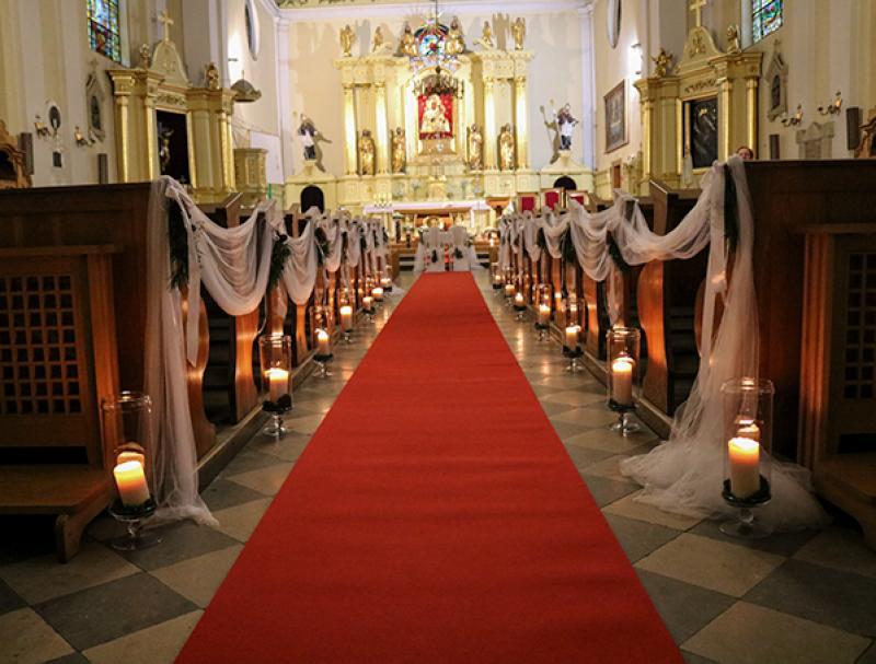 dekoracja alejki zimowy ślub warszawa