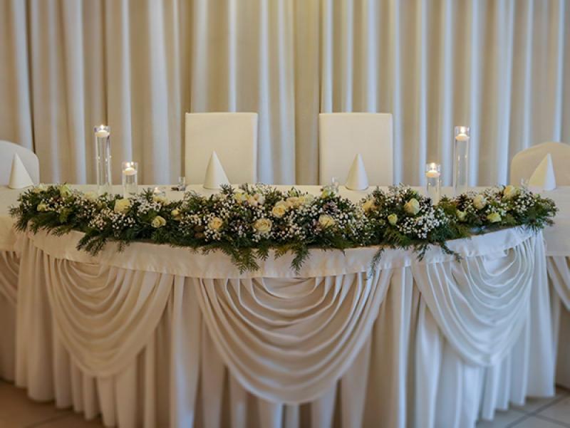dekoracja zimowa stołu młodych warszawa