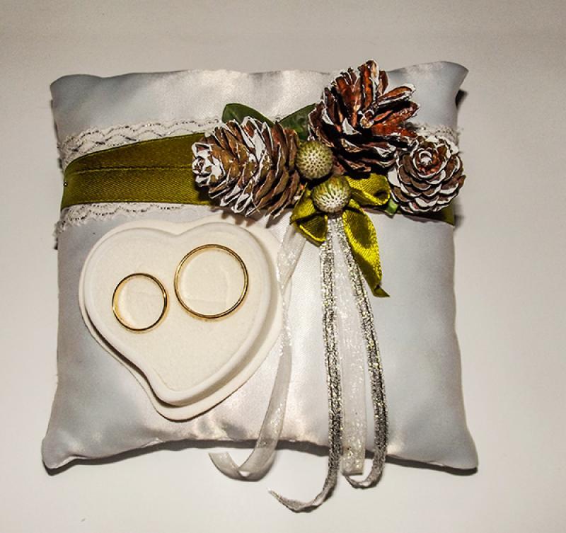 poduszka na obrączki zima warszawa