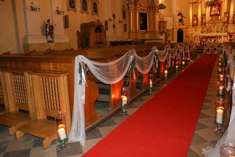 świece na zimowy ślub warszawa