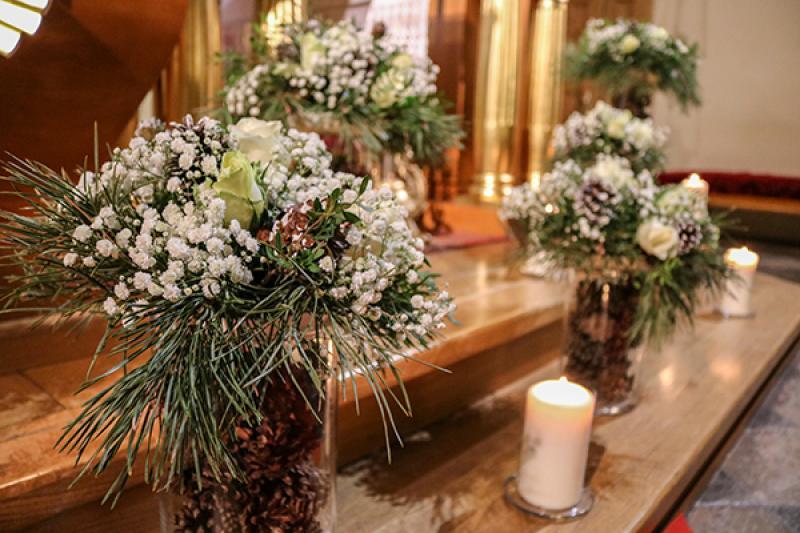 zimowe kwiaty ślub warszawa