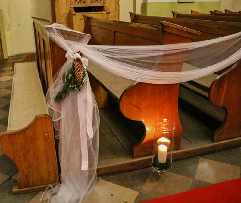 zimowy ślub tiul warszawa