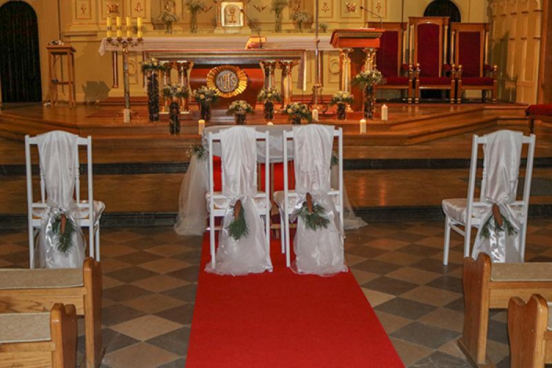 zimowy wystrój kościoła warszawa
