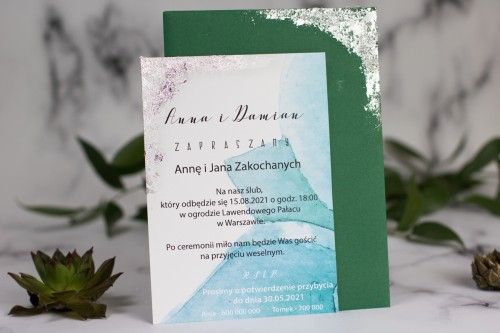 zaproszenie-slubne-zielen-srebro