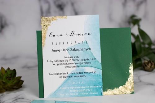 zielony-zloty-zaproszenie-slubne