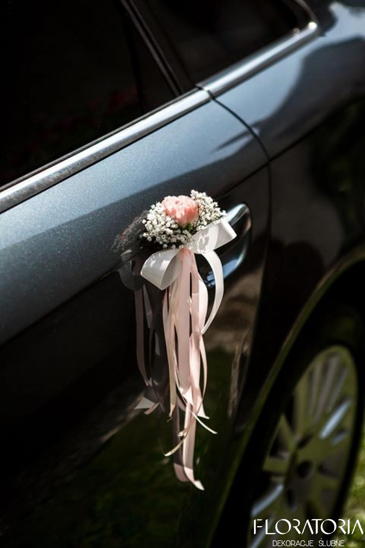 Chwalebne Dekoracja samochodu do ślubu warszawa - stylowe dekoracje samochodu NR08