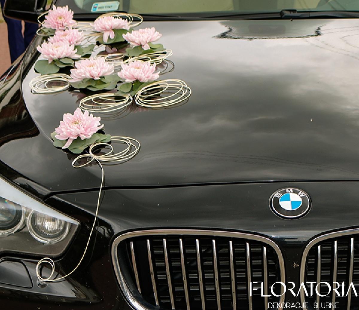 Bardzo dobryFantastyczny Dekoracja samochodu do ślubu warszawa - stylowe dekoracje samochodu UH16