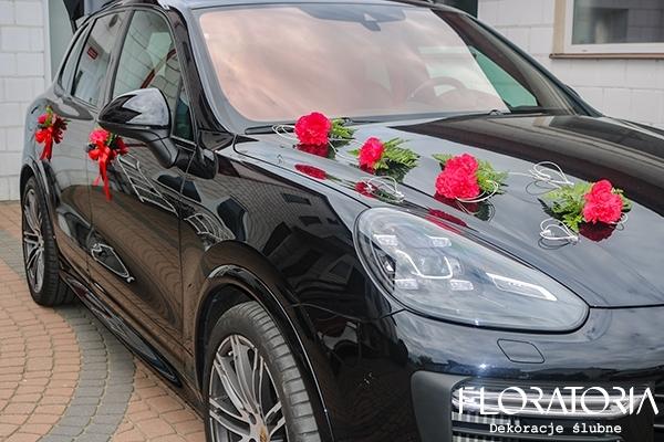 Tylko na zewnątrz Dekoracja samochodu do ślubu warszawa - stylowe dekoracje samochodu LZ25